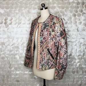 Chelsea & Theodore Embroidered Blazer NEW Sz M